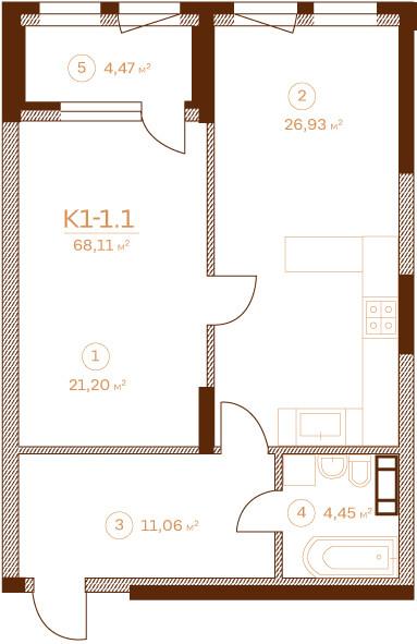 Квартира К1-1.