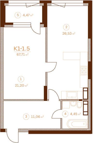Квартира K1-1.5