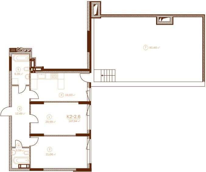 Квартира K2-2.6