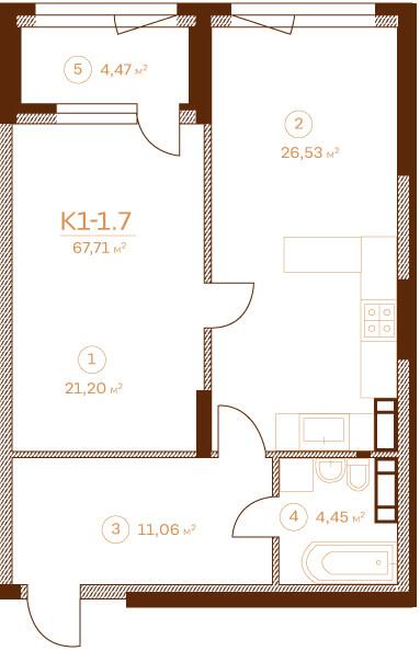 Квартира K1-1.7