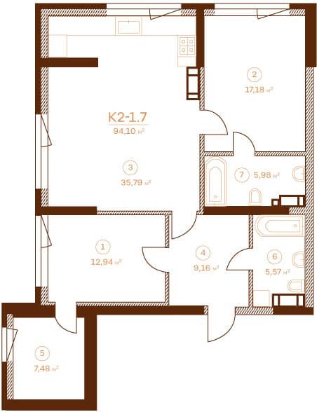 Квартира K2-1.7