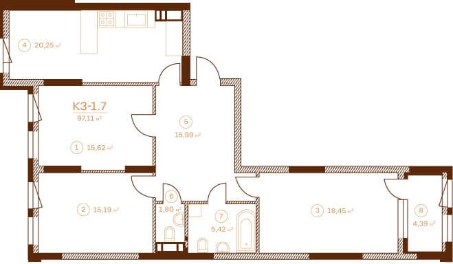Квартира K3-1.7