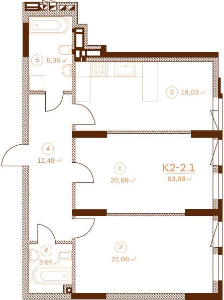 Квартира K2-2.1