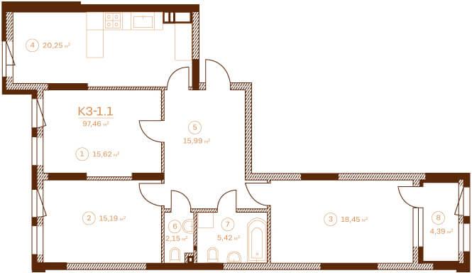 Квартира K3-1.6