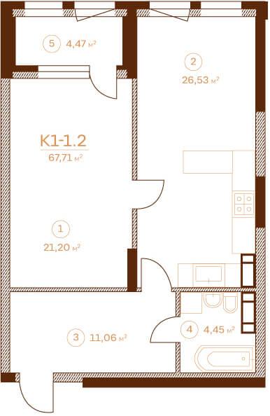Квартира K1-1.2