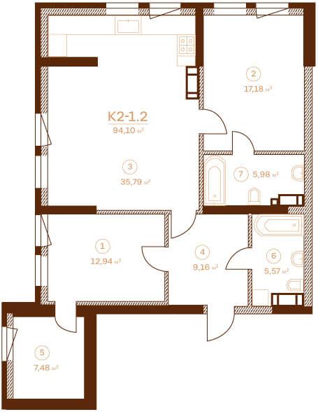 Квартира K2-1.2