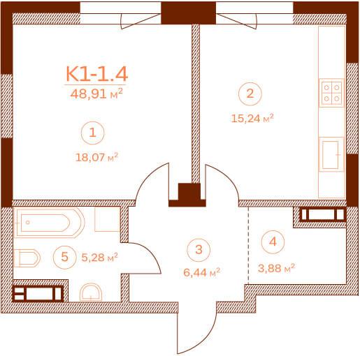 Квартира K1-1.4