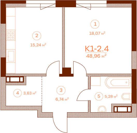 Квартира K1-2.4