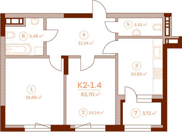 Квартира K2-1.4