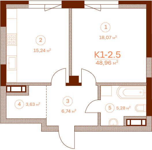 Квартира K1-2.5