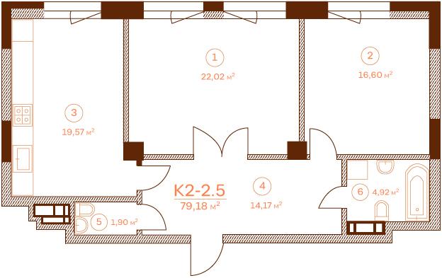 Квартира K2-2.5