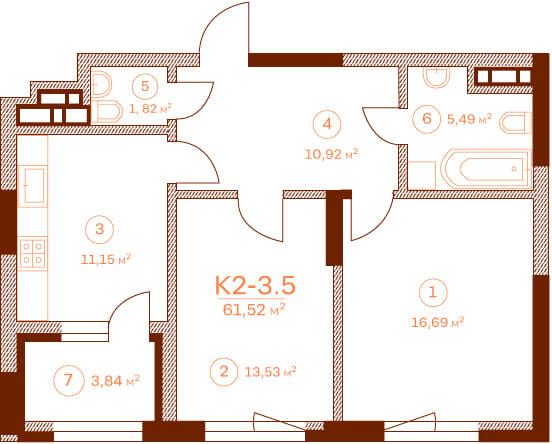 Квартира K2-3.5