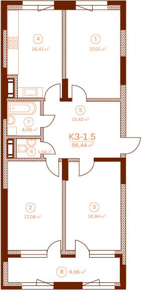 Квартира K3-1.5