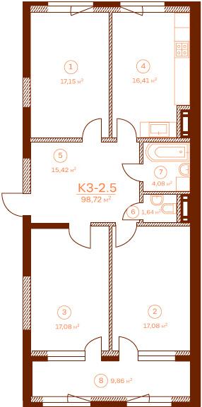 Квартира K3-2.5