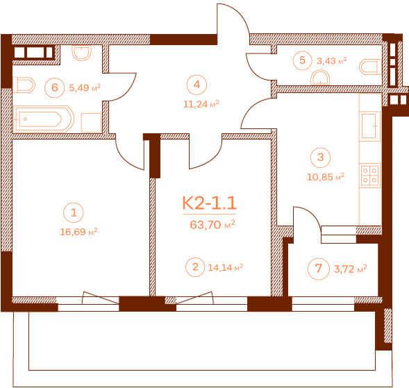 Квартира K2-1.1