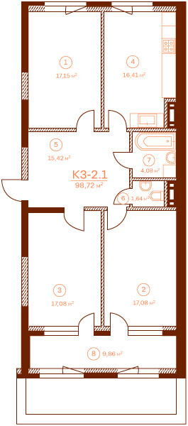 Квартира K3-2.1