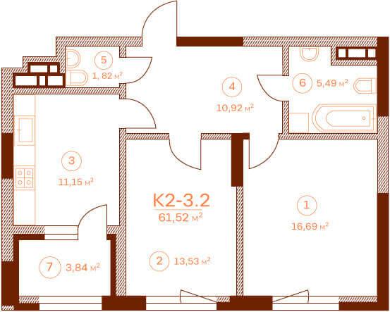 Квартира K2-3.2