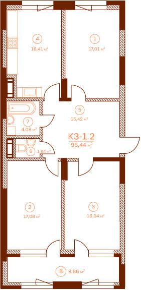 Квартира K3-1.4