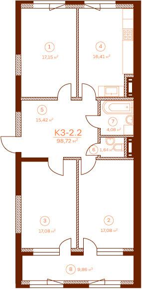 Квартира K3-2.2