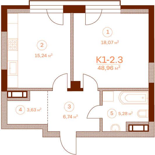 Квартира K1-2.