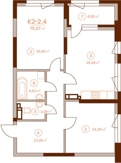 Квартира K2-2.