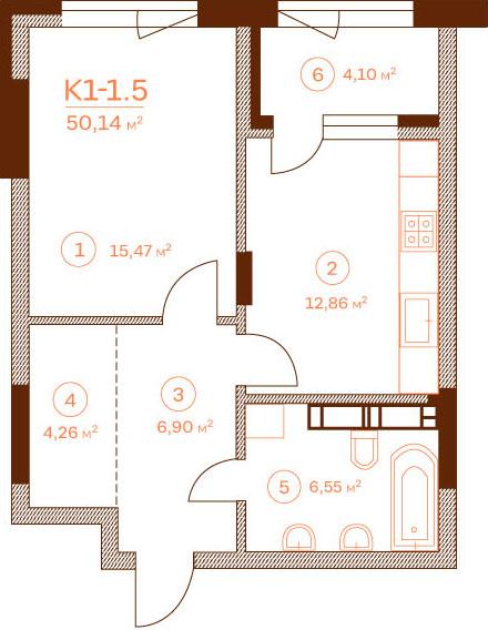 Квартира K1-1.