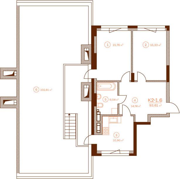 Квартира K2-1.