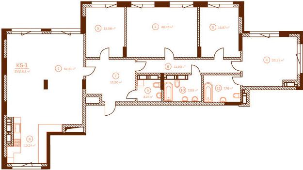 Квартира K5-1.