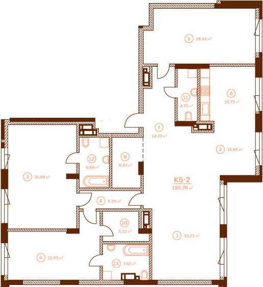 Квартира K5-2.