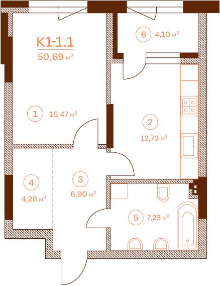Квартира K1-1.1