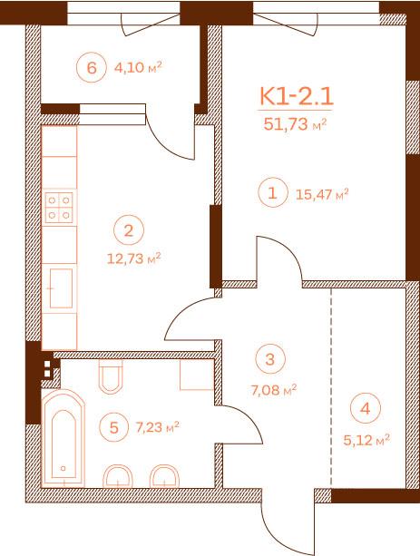 Квартира K1-2.1