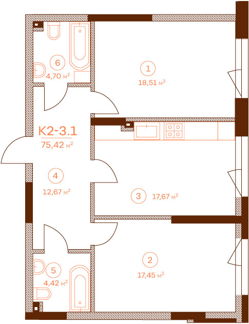 Квартира K2-3.1