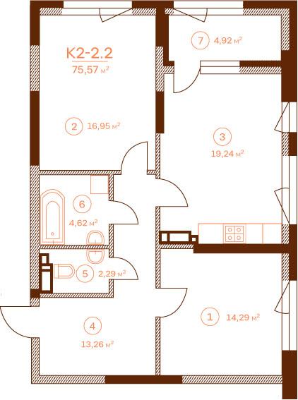 Квартира K2-2.2