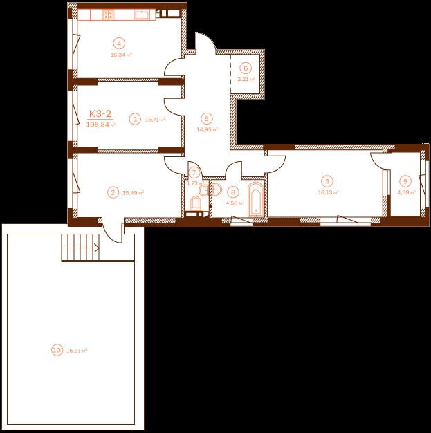 Квартира K3-2.