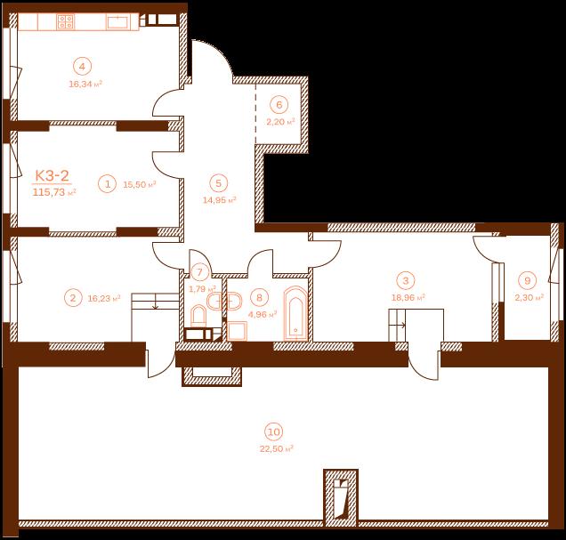 Apartment K3-2.