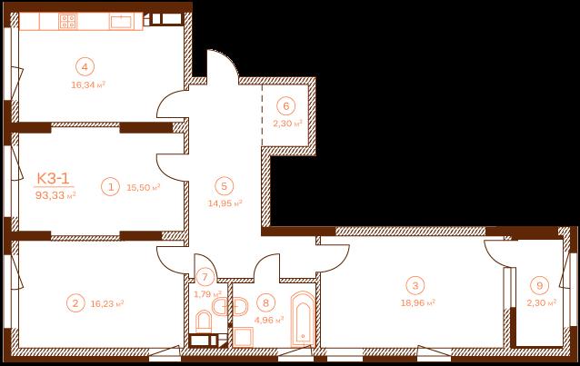 Apartment K3-1.
