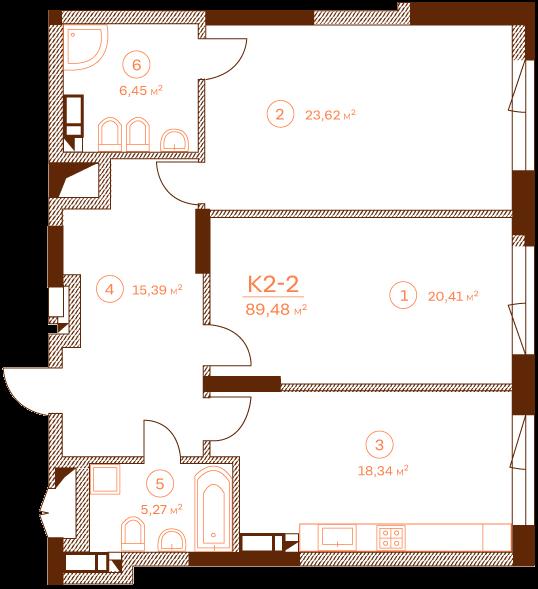Apartment K2-2.