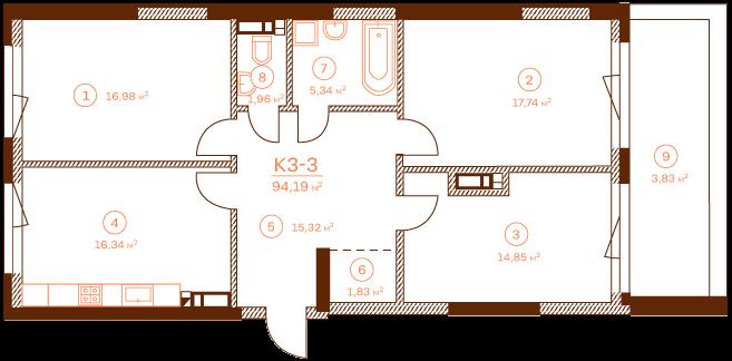 Apartment K3-3.