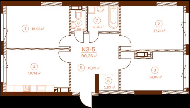 Квартира K3-5.