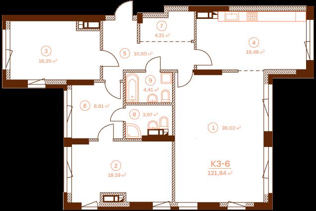 Квартира K3-6.