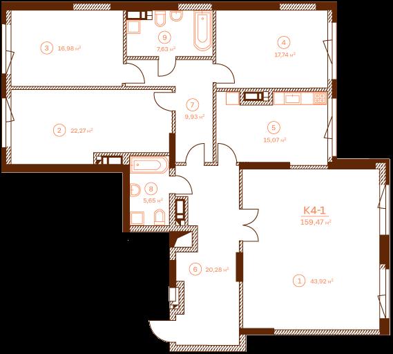 Apartment K4-1.