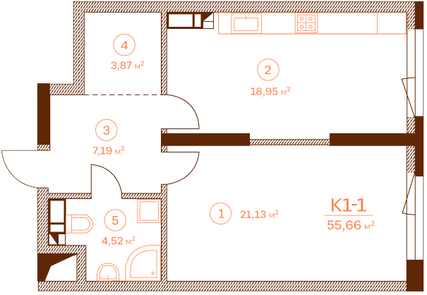 Apartment K1-1.