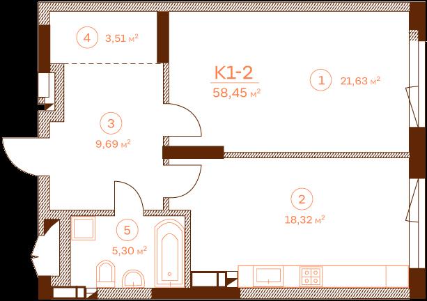 Apartment K1-2.