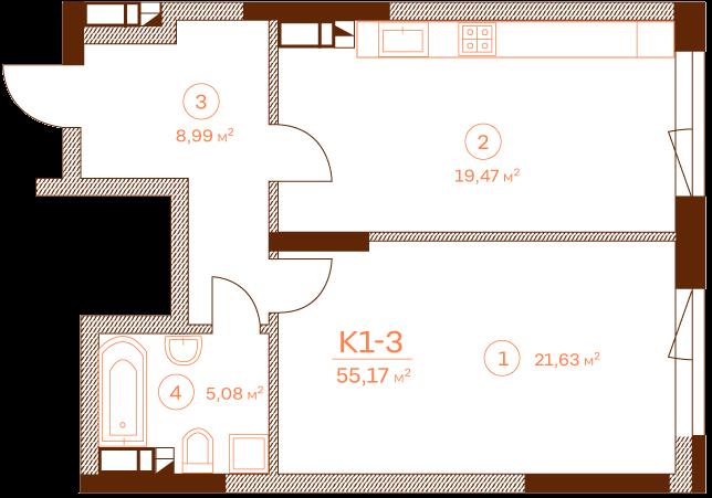 Квартира K1-3.